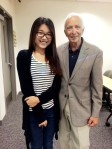 photo of Tracy Tian with prof  Benedetto